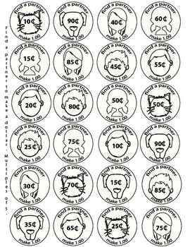 Coin Partners. Make a 1.00 Activity to Divide Students int
