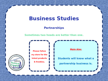 Partnerships - Types of Business Ownership - Business Stud
