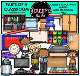 Parts Of A Classroom Clip Art Bundle {Educlips Clipart}