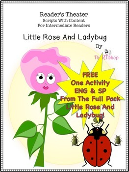"""Parts Of A Plant, One Free Activity From The Full Pack """"Little Rose And Ladybug"""""""
