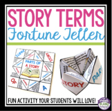 PARTS OF A STORY: FREE PAPER FORTUNE TELLER