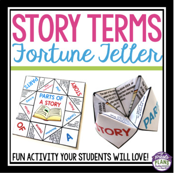 Story Elements Parts Of A Story Free Paper Fortune Teller By Presto Plans