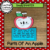 Parts Of An Apple Writing Cut and Paste Craftivity