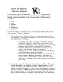 Parts Of Speech Election Project