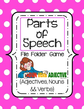 Parts Of Speech File Folder Game {Nouns, Verbs, Adjectives}