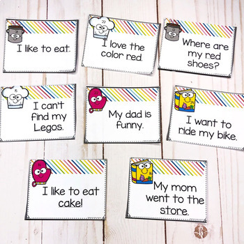 Parts Of Speech Task Cards- Identifying Nouns, Verbs and Adjectives