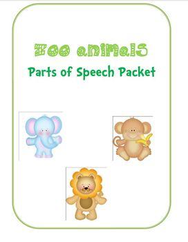 Parts Of Speech Zoo Animals