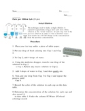Parts Per Million or Serial Dilution Lab (powers of ten, pollution)
