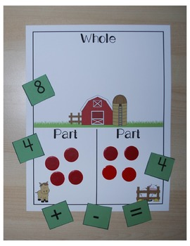 Parts and Whole Addition and Subtraction Mats