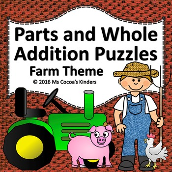 Parts and Whole Addition Puzzles - Farm Theme