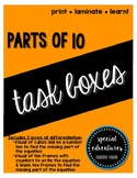 Parts of 10 Task Boxes