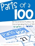 Parts of 100 Game | 100th Day of School Activity