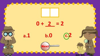 Parts of 2 and 3 Number Detectives Game