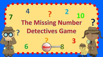 Parts of 4 Number Detectives Game
