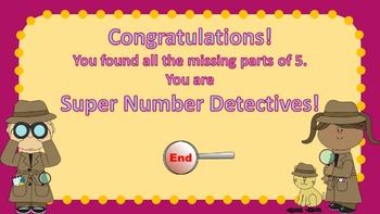 Parts of 5 Number Detectives Game