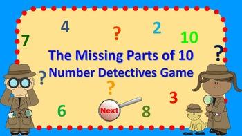 Parts of 6 - 10 Number Detectives Game Bundle