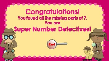 Parts of 7 Number Detectives Game