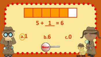 Parts of 6 Number Detectives Game
