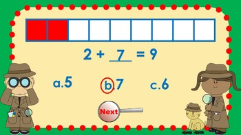 Parts of 9 Number Detectives Game