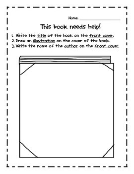 Parts of A Book - Kindergarten Common Core