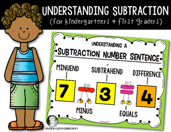 Parts of A Subtraction Sentence: Kindergarten & First - Ma