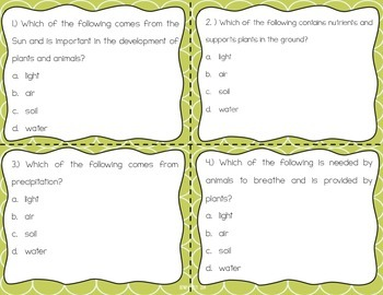 Parts of Ecosystems Task Cards {Scoot}