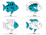 Parts of Fish Coloring Sheets with Control Cards