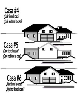 (Spanish/French) House Vocabulary-Parts of House- what is missing?