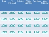 Parts of Linear Equations Jeopardy