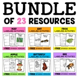 Parts of Living Things Activities Bundle