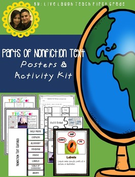 Parts of Nonfiction Text Features Kit