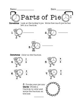 Parts of Pie-Fraction Fun!
