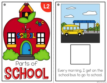 Parts of School Adapted Books ( Level 1 and Level 2 )