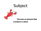Parts of Sentence Posters