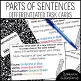 Parts of Sentences Activity