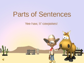 Parts of Sentences for Lil' Cowpokes