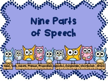 Nine Parts of Speech Posters