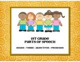 Parts of Speech - Nouns, Verbs, Adjectives, and Pronouns