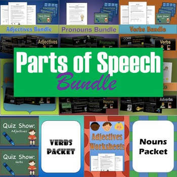 Parts of Speech Unit 4th grade to 6th grade