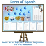Parts of Speech - 16  Christmas Themed Worksheets