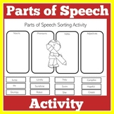 Parts of Speech Worksheet Review