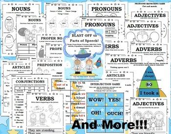 Parts of Speech-1st/2nd {All 10 Parts of Speech}