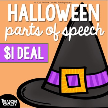 Parts of Speech: Halloween Word Work $1 Deal