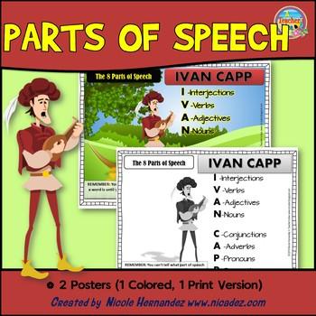 Parts of Speech Poster {IVAN CAPP}