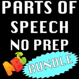 Parts of Speech Literacy and Writing Centers Activities & Worksheets Bundle