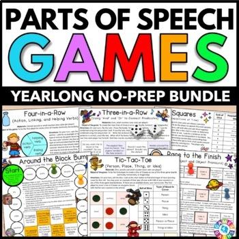 Parts of Speech Activities: Parts of Speech Games Bundle