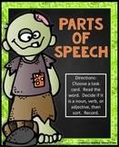 Halloween Parts of Speech Literacy Center