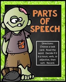 Parts of Speech Activities   Halloween