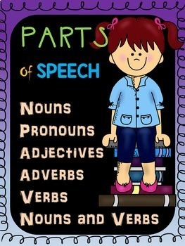 Parts of Speech Worksheets BUNDLE: Nouns, Pronouns, Verbs, Adjectives, Adverbs