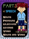 Parts of Speech Worksheets BUNDLE: Nouns, Pronouns, Verbs,